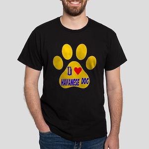 I Love Havanese Dog Dark T-Shirt