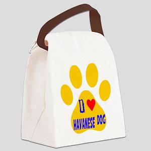 I Love Havanese Dog Canvas Lunch Bag
