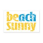 Beach Sunny Rectangle Car Magnet