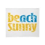 Beach Sunny Throw Blanket
