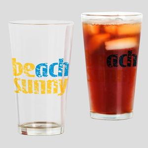 Beach Sunny Drinking Glass