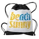 Beach Sunny Drawstring Bag