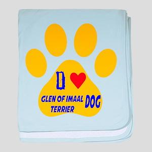 I Love Glen of Imaal Terrier Dog baby blanket