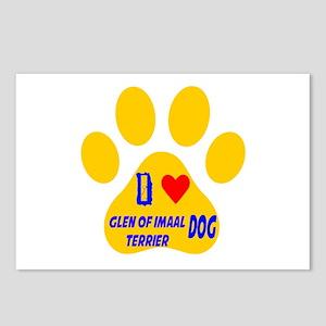 I Love Glen of Imaal Terr Postcards (Package of 8)