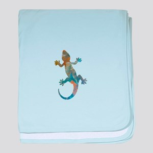 Gecko baby blanket