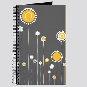 Modern Minimalistic Abstract Floral Patter Journal