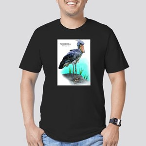 Shoebill Men's Fitted T-Shirt (dark)