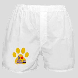 I Love Finnish Lapphund Dog Boxer Shorts