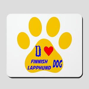I Love Finnish Lapphund Dog Mousepad