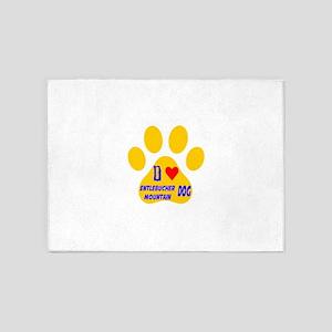I Love Entlebucher Mountain Dog 5'x7'Area Rug