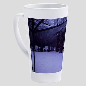 PICT0054 winter scene with sno 17 oz Latte Mug