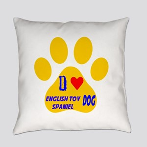 I Love English Toy Spaniel Dog Everyday Pillow
