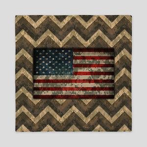 Desert Brown Patriotic Camo Chevrons American Flag