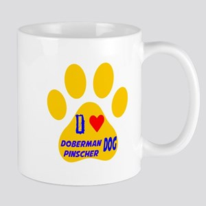 I Love Doberman Pinscher Dog Mug