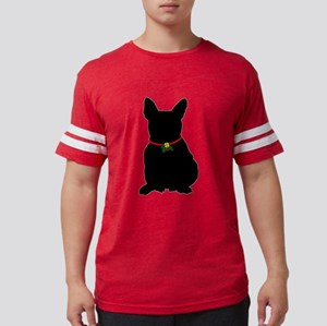 Christmas or Holiday French Bulldog Silhouette T-S