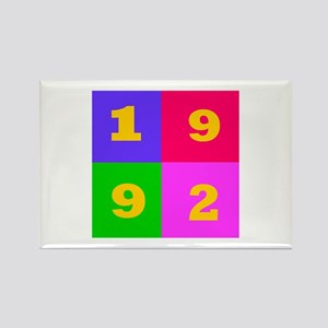 1992 Years Designs Rectangle Magnet