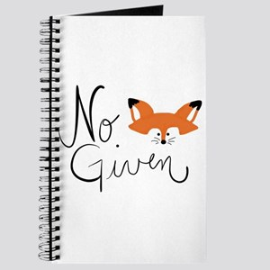 No Fox Given Journal