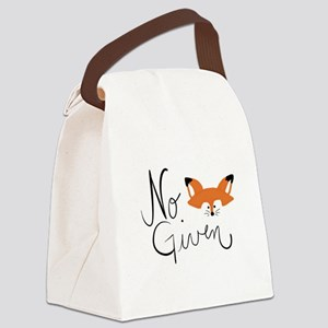 No Fox Given Canvas Lunch Bag