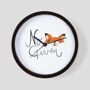 No Fox Given Wall Clock