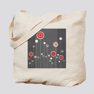 Modern Minimalistic Abstract Floral Patte Tote Bag