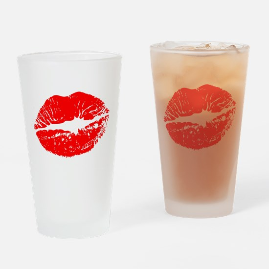 Cute Kisses Drinking Glass