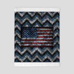 Naval Blue Patriotic Camo Chevrons American Flag T