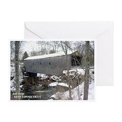 Bulls Bridge Snowy Greeting Cards (Pk of 10)