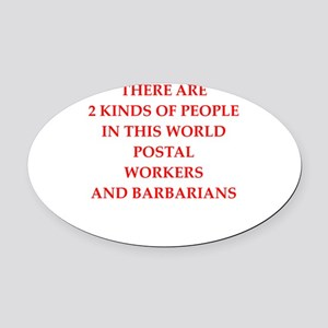 postal worker Oval Car Magnet