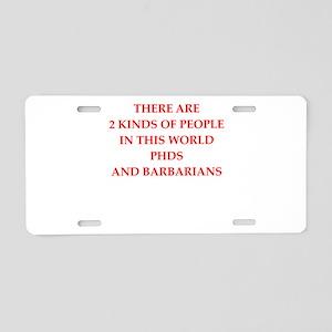 phd Aluminum License Plate