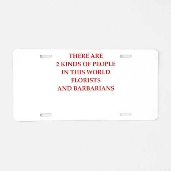 florist Aluminum License Plate