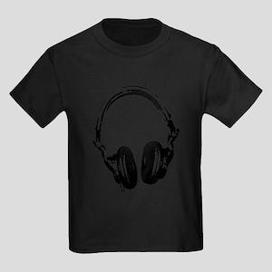 Dj Headphones Stencil Style T Shir T-Shirt