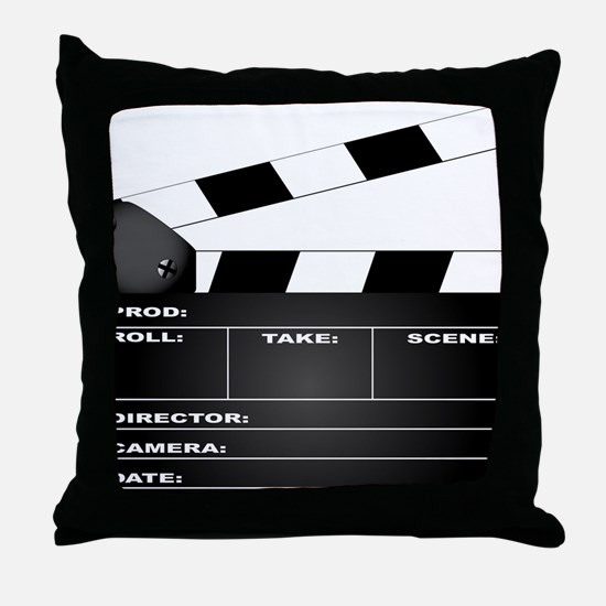 Cute Film director Throw Pillow