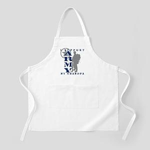 I Support Grandpa 2 - ARMY BBQ Apron