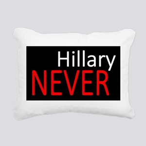 Never Hillary Rectangular Canvas Pillow