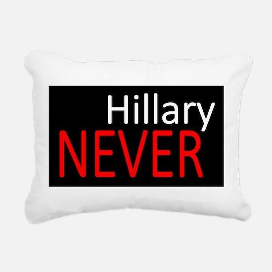 Never Hillary Rectangular Canvas Pillow