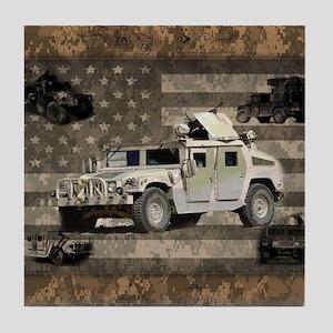 Humvee Patriotic Digital Camo American Flag Tile C