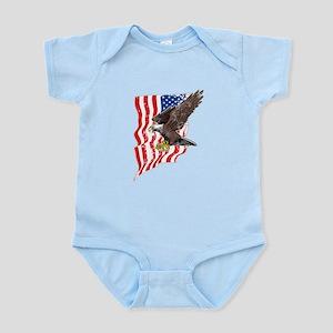 USA Flag and Bald Eagle Body Suit