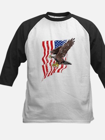 USA Flag and Bald Eagle Baseball Jersey