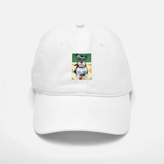 Schnauzer & Red Ball Baseball Baseball Cap