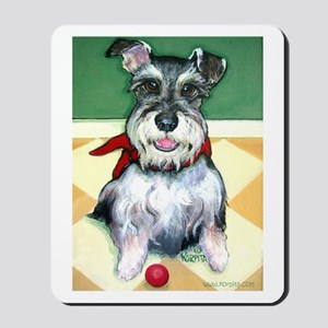 Schnauzer & Red Ball Mousepad