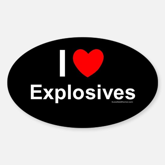 Explosives Sticker (Oval)
