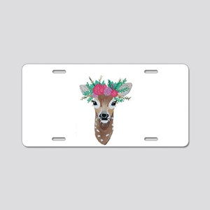Fawn with Flower Crown Aluminum License Plate