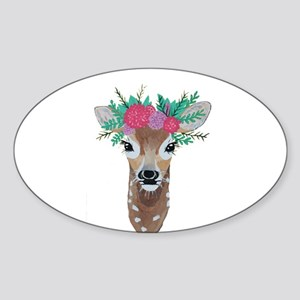 Fawn with Flower Crown Sticker