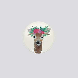 Fawn with Flower Crown Mini Button