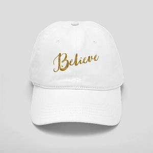 Gold Look Believe Baseball Cap