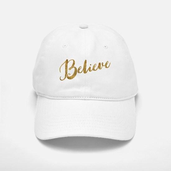 Gold Look Believe Baseball Baseball Baseball Cap