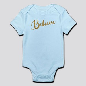 Gold Look Believe Body Suit