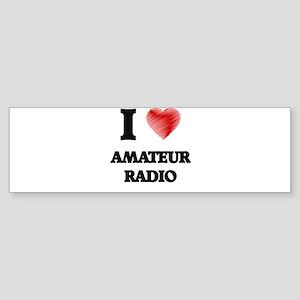 I Love Amateur Radio Bumper Sticker