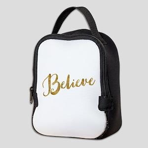 Gold Look Believe Neoprene Lunch Bag