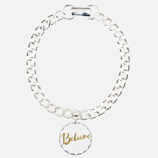 Gold Look Believe Bracelet